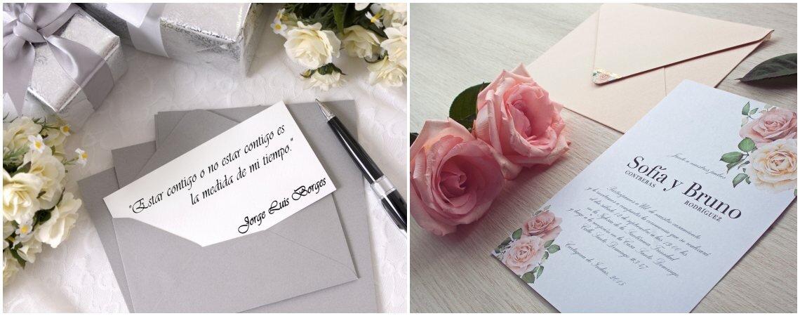 45 frases de amor para las tarjetas de invitación a la boda. ¡Inspiración a flor de piel!