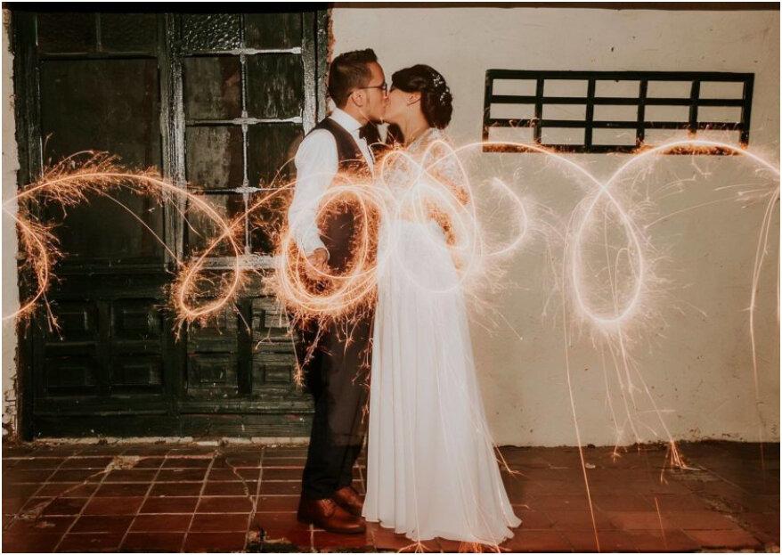 ¡Una boda íntima con el mejor estilo campestre y vintage! Así se casaron Luis y Lizeth