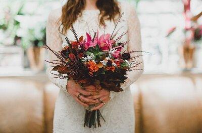 Como combinar o vestido de noiva com o buquê: as melhores dicas!