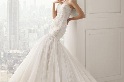 Vestidos de novia Rosa Clará 2015: sofisticación y glamour