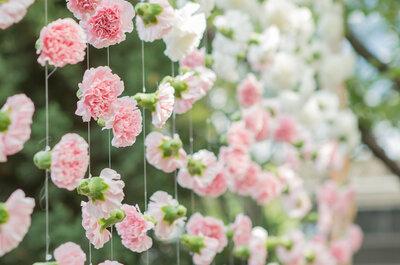 Inspiration pour votre mariage : une décoration rose pastel et toute en fleurs !