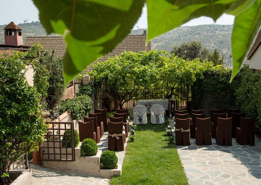 Disfrutar en tu boda de un espacio idílico con alojamiento para tus invitados, ¡sí es posible en Roqueo de Chavela!