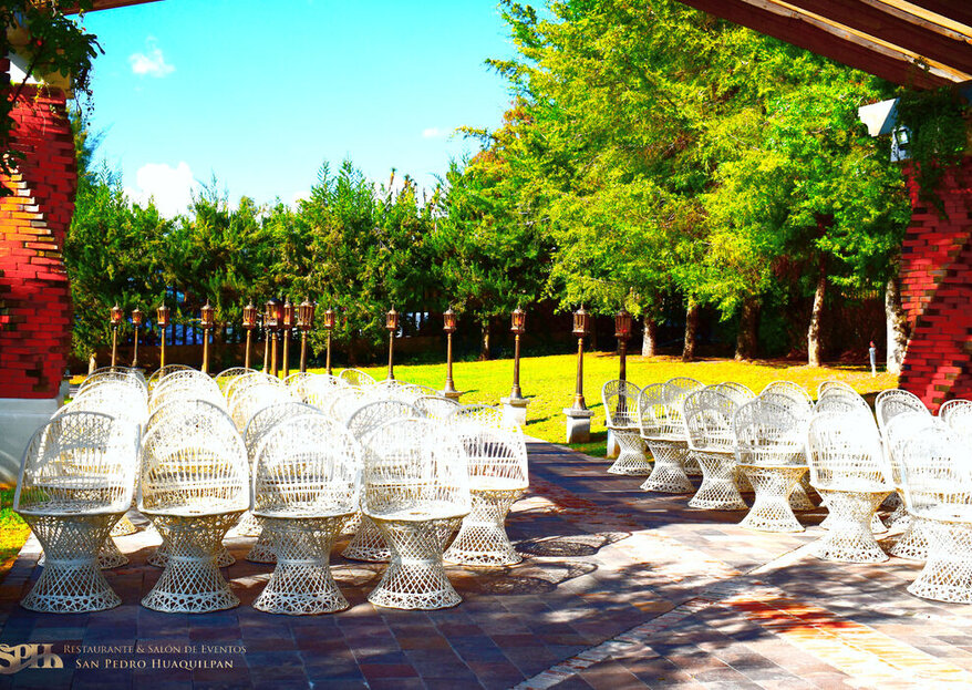 """Salón y Jardín San Pedro Huaquilpan: sus amplias áreas verdes lo convierten en el escenario ideal para dar el """"sí, quiero"""""""
