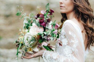 Ricami floreali per un abito da sposa romantico ed originale