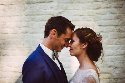 Julie et Jonathan : un beau mariage pastel dans une ferme du Nord de la France