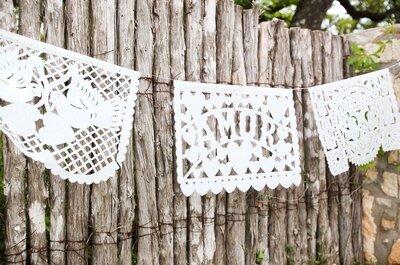 Cómo decorar una boda con papel picado: Las mejores ideas para una ceremonia 100% mexicana