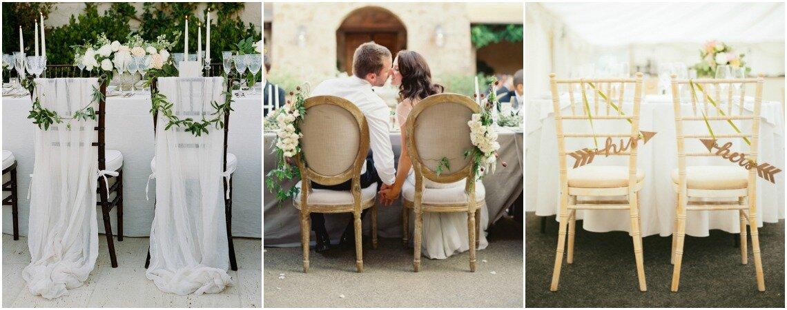 Ślubne dekoracje na krzesła! Nowe trendy!
