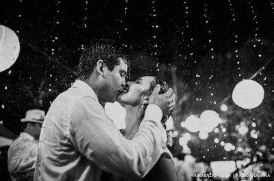 A meteorologia errou? Aprenda como driblar o mau tempo no dia do casamento!
