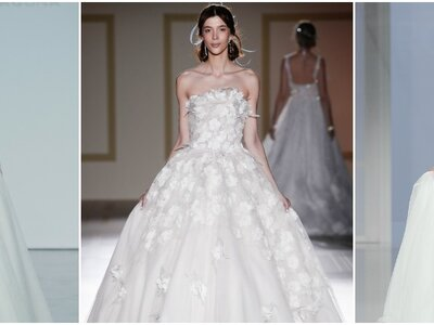 50 hermosos vestidos de novia con falda voluminosa: Todo un cuento de hadas