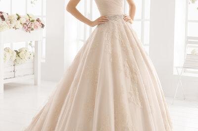 Różowe suknie ślubne 2016 : odkryj wszystkie!