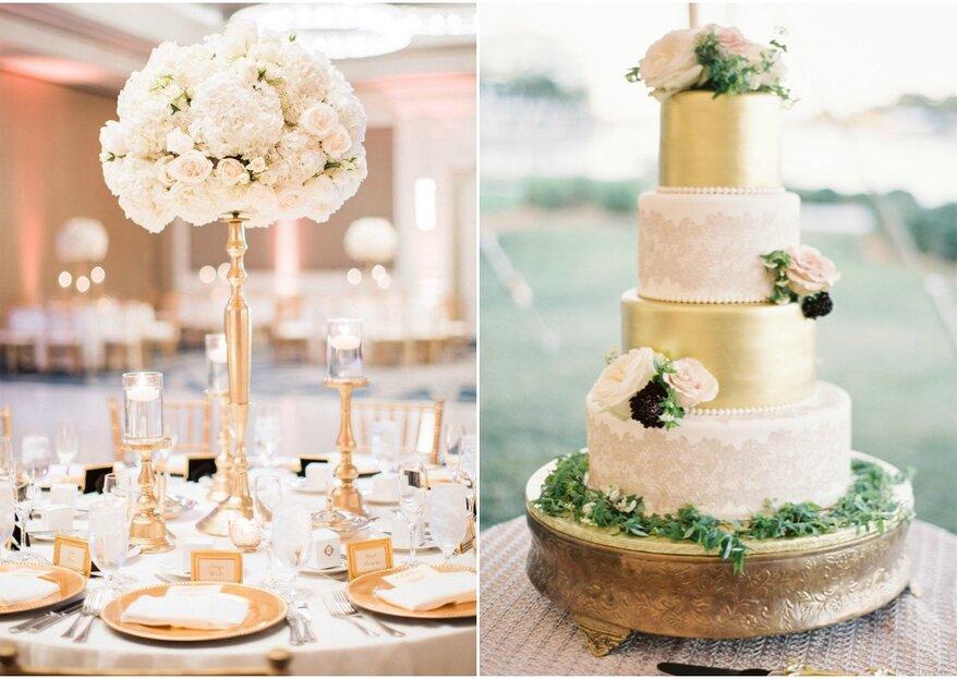 Il tuo matrimonio si tinge di ORO: ecco le decorazioni più chic!