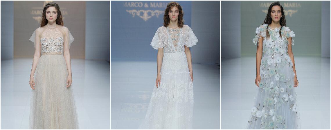 Vestidos de novia Marco & María 2019: diseños soñadores para novias muy románticas