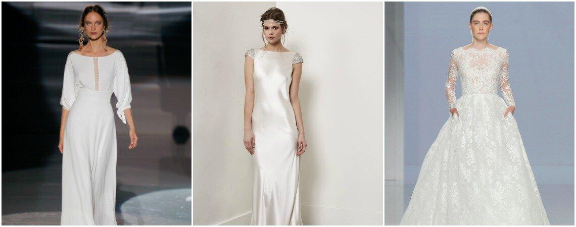 Brautkleider mit U-Boot-Ausschnitt: Die perfekte Fusion von Eleganz und Prestige