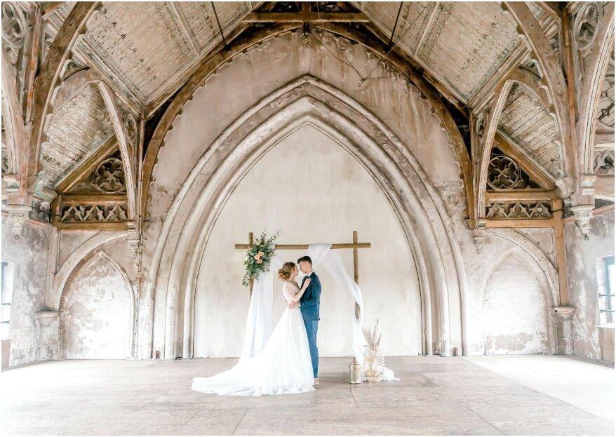 Romantiek in de kathedraal: styled shoot op een bijzondere locatie