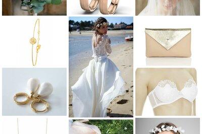 Look pour une mariée romantique : une robe superbe et ses dix accessoires