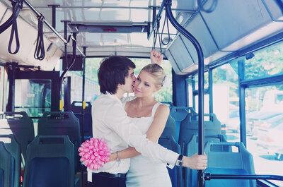Bus Sharing am Tag der Hochzeit! Finden Sie heraus, warum Sie Ihr Auto zuhause lassen sollten