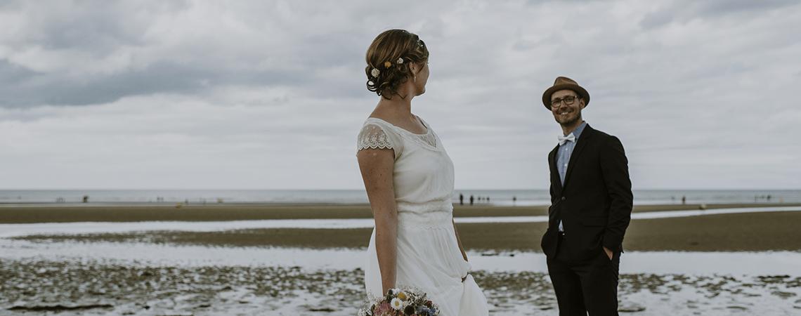 Marie et Fabien : un charmant mariage rétro champêtre en Normandie
