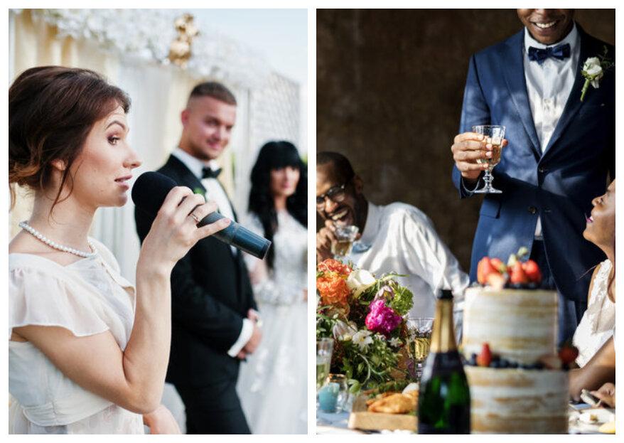Wie laat jij speechen op de bruiloft?