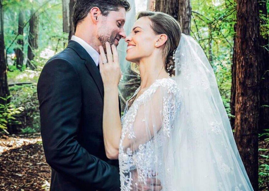 Hilary Swank se casó en secreto ¡Descubre su boda en medio del bosque!