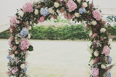 Los colores envolventes en una boda ecléctica ¡de ensueño!