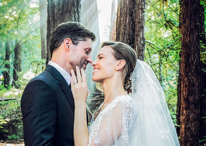 Hilary Swank casou em segredo rodeada pela natureza