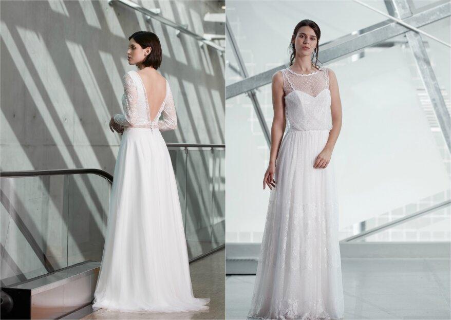 Feinste Spitze und zarte Eleganz: Créations Bochet präsentiert uns die neusten Kleider für 2020