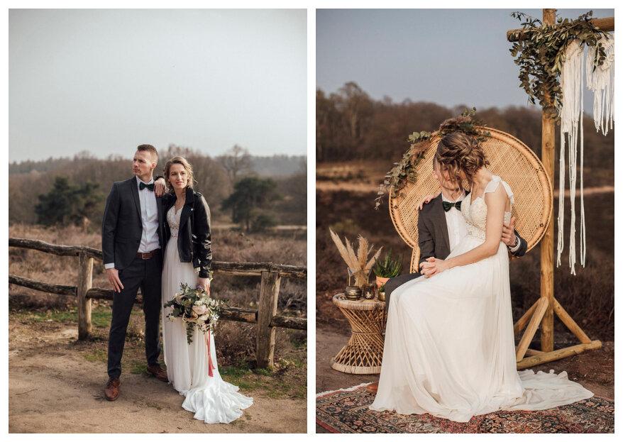 Styled Wedding Shoot: Trouwen op de posbank in Rheden!