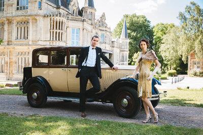 """Já pensou dizer o """"sim, quero"""" ao estilo Great Gatsby? Repleto de Glamour e luxo!"""
