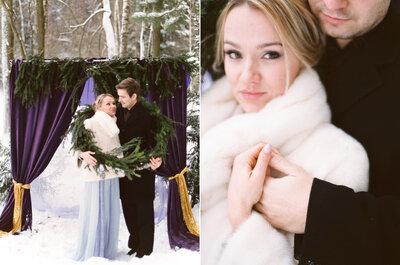 Снежная история любви: стильно и романтично
