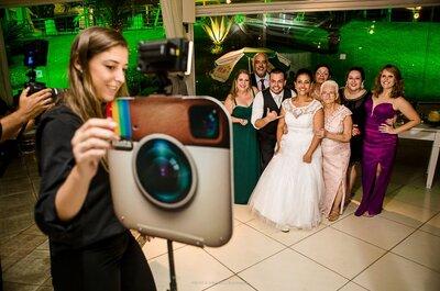 Fotocabines personalizadas e novidades em foto lembranças para o seu casamento