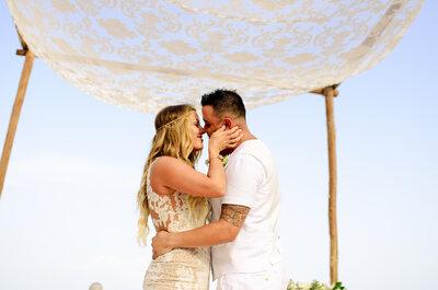 El mar perfecto y un toque dorado: Enamórate de esta boda destino en la Riviera Maya