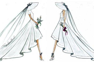 Fanny Liautard : Quand les croquis d'une créatrice révèlent toute la beauté des prémices d'une robe de mariée