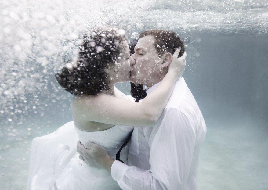 Il matrimonio sott'acqua sbarca in Italia: la parola al team di Tiffany Eventi