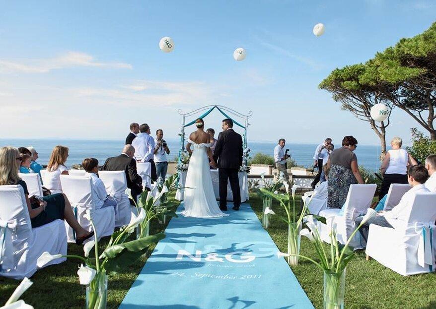 Matrimoni Speciali: il tuo grande giorno da celebrare con vista mare e profumi di agrumi