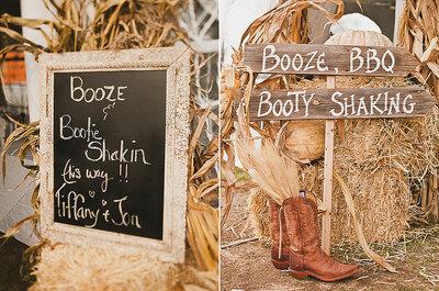 Detalles rústicos para tu boda campestre