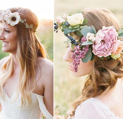 Coroas De Flores Para Noivas Alegre O Seu Penteado Com