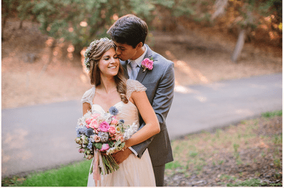 Real Wedding: Una boda encantadora y casual en Oakland, California