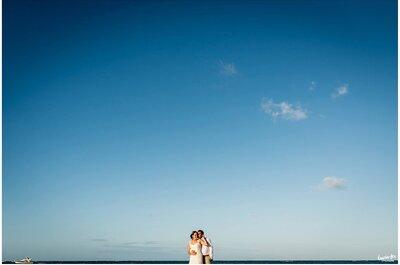 El matrimonio de Wendy y Luis Miguel, lleno de aventuras con el mar de fondo