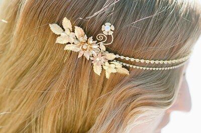 Os melhores penteados e acessórios com flores para noivas!