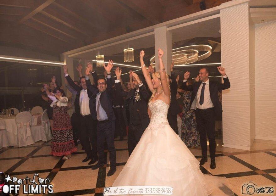 Affidati all'animazione di Off limits Event per rendere il tuo matrimonio uno spettacolo indimenticabile