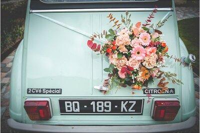 Las flores de boda más allá del centro de mesa