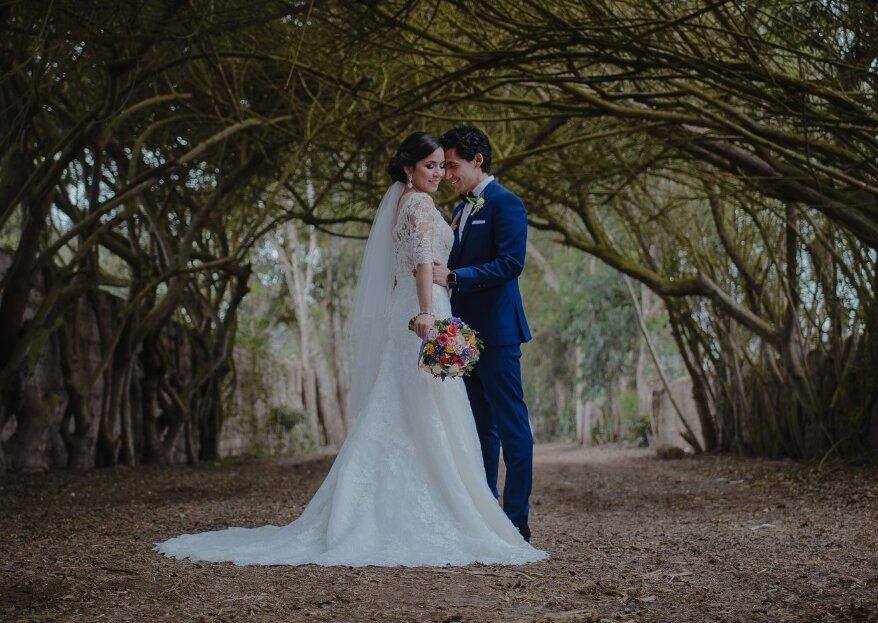 Stephanie y Junior: cuando la magia del primer amor llega al altar