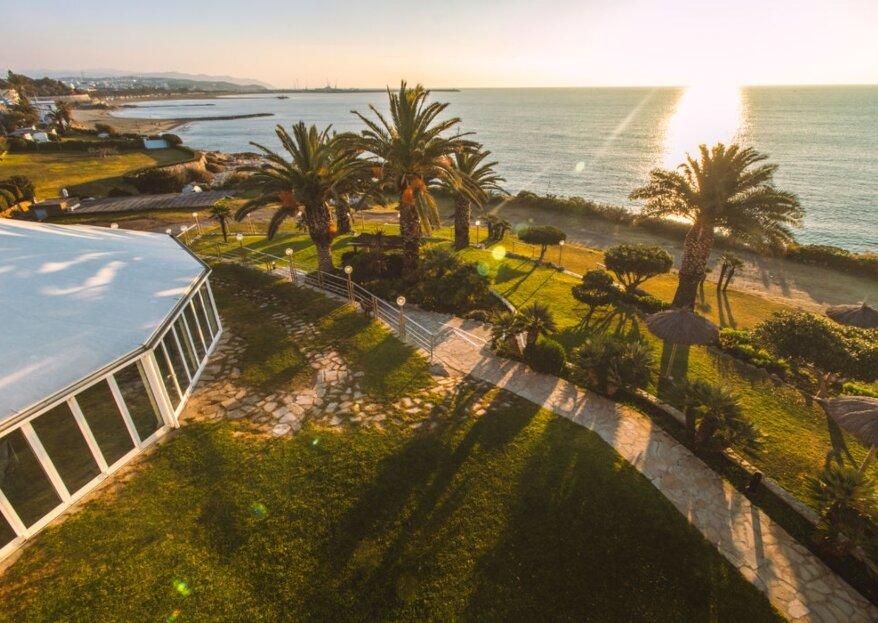 La Cucanya: una delicia suspendida sobre el mar que brilla como espacio para bodas románticas