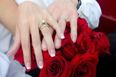 La moda de las fotos a las argollas de matrimonio