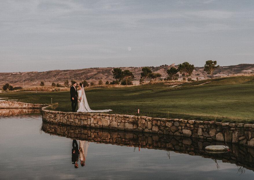 Descubrimos El Encín Golf, el hotel de Madrid que permite combinar varios espacios únicos para celebrar la boda