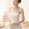 Hochzeits-Kleid: Brautkleid mit Gürtel und Schleife