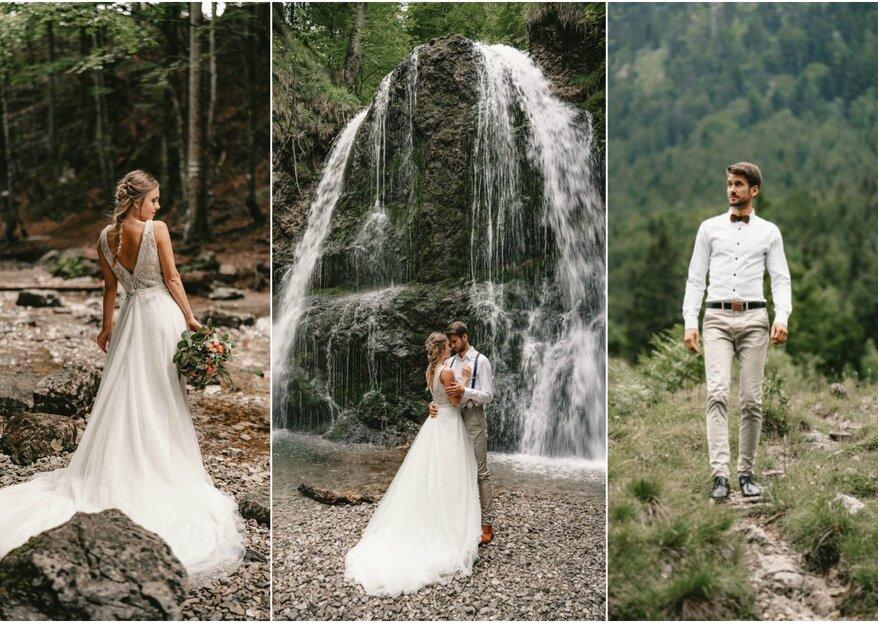 After-Wedding-Shoot in der Natur mit dem Zweitplatzierten des BeWoden Styleshoot Contest Alex Mayer