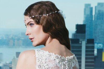 Haz que tu cabello rizado sea el protagonista de tu look de novia