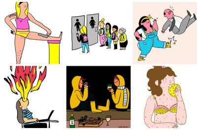 La realidad de ser mujer a través de graciosas imágenes. ¿Te identificas?