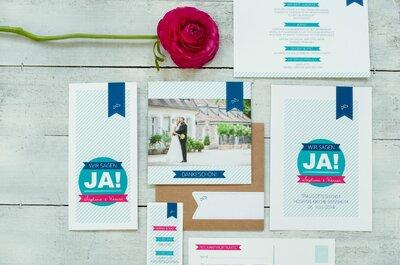 Wie finden wir die richtigen Hochzeitseinladungen für unsere Feier? Und wie sehen die Trends aus? Die Expertin verrät's!
